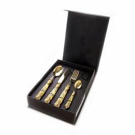 Набор столовых приборов Domus VERSAL GOLD на 6 персон 24 предмета