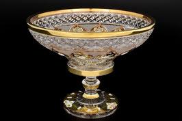 ХРУСТАЛЬ С ЗОЛОТОМ ваза для фруктов 25,5 см