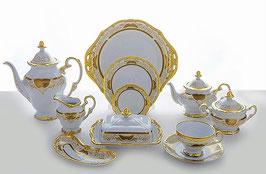 Немецкий чайный сервиз Weimar СИМФОНИЯ ЗОЛОТАЯ на 6 персон 31 предмет ( артикул МН 8612 В )