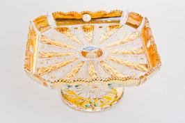 ХРУСТАЛЬ С ЗОЛОТОМ блюдо для торта 26 см