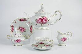 Немецкий чайный сервиз Weimar РОЗА Розовая на 6 персон 21 предмет ( артикул МН 32122 В )
