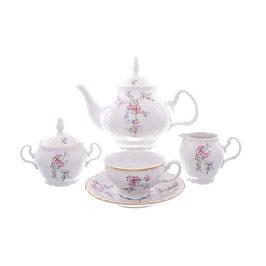 Чайный сервиз ЦВЕТЫ Bernadotte на 6 персон 15 предметов