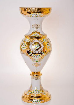 Напольная ваза для цветов ЛЕПКА СМАЛЬТА БЕЛАЯ 70 см