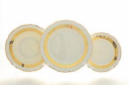 Набор тарелок для сервировки стола Thun МАРИЯ ЛУИЗА ИВОРИ 18 штук