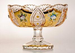 ХРУСТАЛЬ С ЗОЛОТОМ ваза для конфет 20,5 см