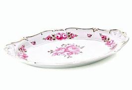 Блюдо овальное Weimar РОЗА Розовая 24 см ( артикул МН 32110 В )