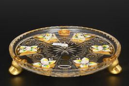 Набор десертных тарелок ХРУСТАЛЬ С ЗОЛОТОМ 18 см