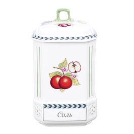Банка для хранения сыпучих продуктов Leander  ФРУКТЫ  соль 20 см