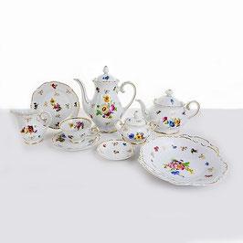 Чайный сервиз Reichenbach МЕЙСЕНОВКИЙ БУКЕТ на 6 персон 29 предметов