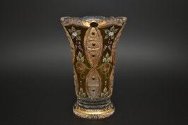 ХРУСТАЛЬ С ЗОЛОТОМ ваза для цветов 25 см