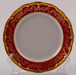 Набор десертных тарелок Weimar ЮВЕЛ Красный 15 см ( артикул МН 6236 В )