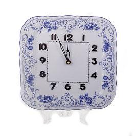 Часы настенные квадратные СИНИЙ Bernadotte 26 см