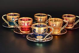 Набор для кофе VENEZIANO COLOR на 6 персон 12 предметов