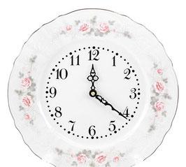Часы настенные Bernadott РОЗА СЕРАЯ ПЛАТИНА 27 см
