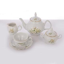 Чайный сервиз Bernadotte ДИКАЯ РОЗА на 6 персон 15 предметов