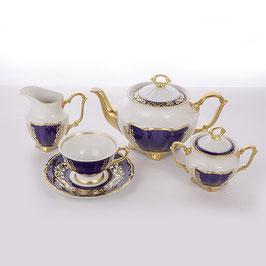 Чайный сервиз Epiag ЗОЛОТОЙ КОБАЛЬТ на 6 персон 15 предметов