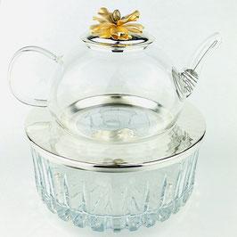 Заварочный чайник с подставкой Select ЦВЕТОК 600 мл