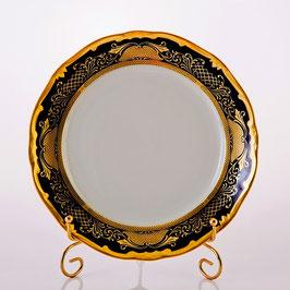 Набор закусочных тарелок Weimar СИМФОНИЯ ЗОЛОТАЯ КОБАЛЬТ 22 см ( артикул МН 23831 В )