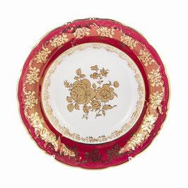 Набор глубоких тарелок Carlsbad РОЗА ЗОЛОТАЯ КРАСНАЯ 23 см