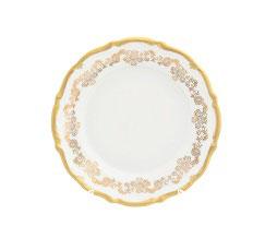 Набор десертных тарелок Queens Crown ЗОЛОТОЙ ОРНАМЕНТ 17 см