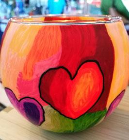 Kerzenglas Modern Hearts