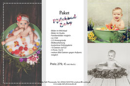 Milchbad-Fotoshooting Baby