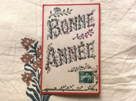 sold out> 新年 Bonne Annee 古絵葉書 no.1477k