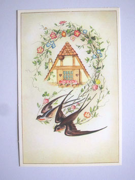 sold out> ツバメ柄絵葉書 no.970d
