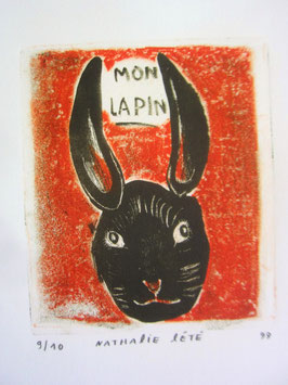 sold out> ナタリーレテ 版画 <MON LAPIN> no.1793