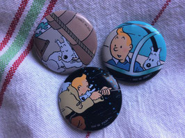 sold out> Tintin バッジ3種 no.1902