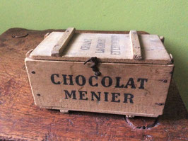 sold out> <NOEL> Chocolat Menier 木箱Sサイズ  no.24926