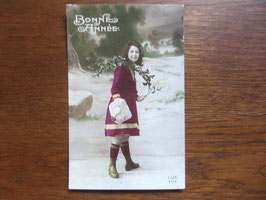 sold out> 新年 Bonne Annee 絵葉書 no.1360c