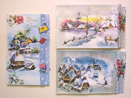 sold out>新年3Dカード・雪景色 no.809