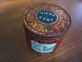 sold out> Vichy Etat 円柱型ティン缶 no.1066c