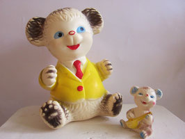 sold out> 1970年代 クマ人形・父子セット no.703