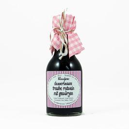 Dessertsauce Traube Rotwein mit Gewürzen