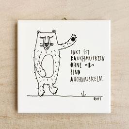 "Wandfliese ""Bauchmuskeln"""