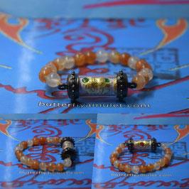 R24 . Roll  butterfly Amulet  Bracelet