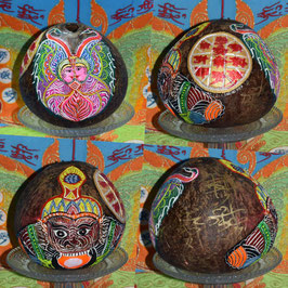 One Eyed Coconut Butterfly and Rahu by Kruba