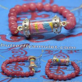 R35 . Roll butterfly Amulet  Bracelet