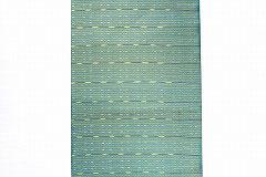 特価セール/NAGO130タイシルク青緑黄白絣ライン柄名古屋帯