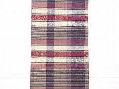 NAGO288タイシルク赤白グレー刺繍織縞柄名古屋帯