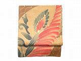 NAGO202 麻バティック南国花柄名古屋帯