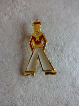 Broche marin rouge