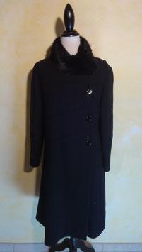 Manteau laine et fourrure 60's T.38
