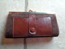 Porte monnaie en cuir 50's
