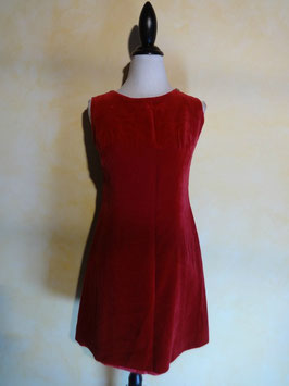 Robe velours rouge 50's T.36