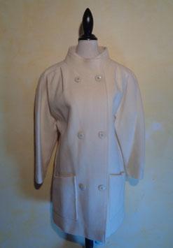 Manteau laine blanc 80's T.40