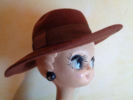 Chapeau laine marron