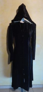 Manteau velours noir 20's T.36
